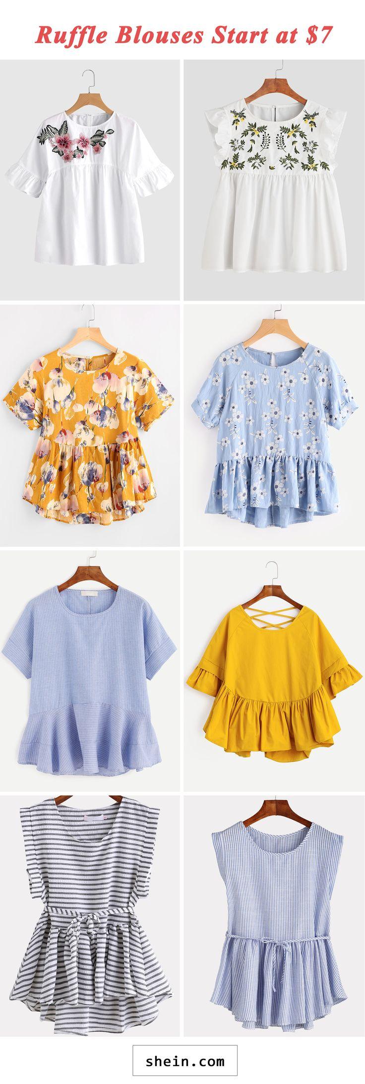 Ruffle blouses start at $7!