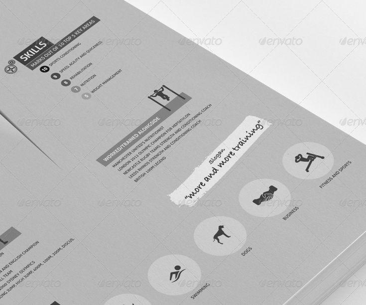 14 best Design - Resumes images on Pinterest Design resume, Cv - resume for a personal trainer