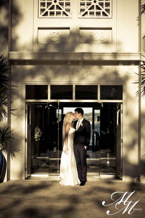Chloe and Brendon, Sydney Australia, Ceremony Rocky Point Island, Wedding Reception Venue Bathers' Pavillion (Balmoral).  A stunning, sunny, sandy day on Balmoral Beach in Sydney. Copyright: MM Photos
