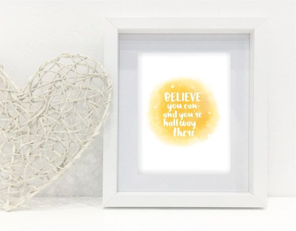Instant Download printable - Believe you can by MyCosmicShop on Etsy