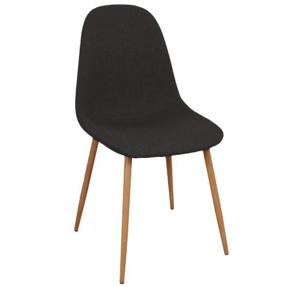 Laura Mørkegrå spisebordsstole - Polstret (295 kr/tilbud før 800 kr)