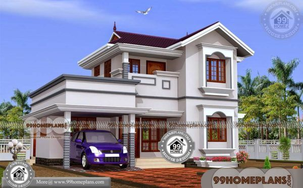 Indian House Models And Plans Design Of Two Story House Collections Model House Plan Kerala House Design Small Contemporary House Plans