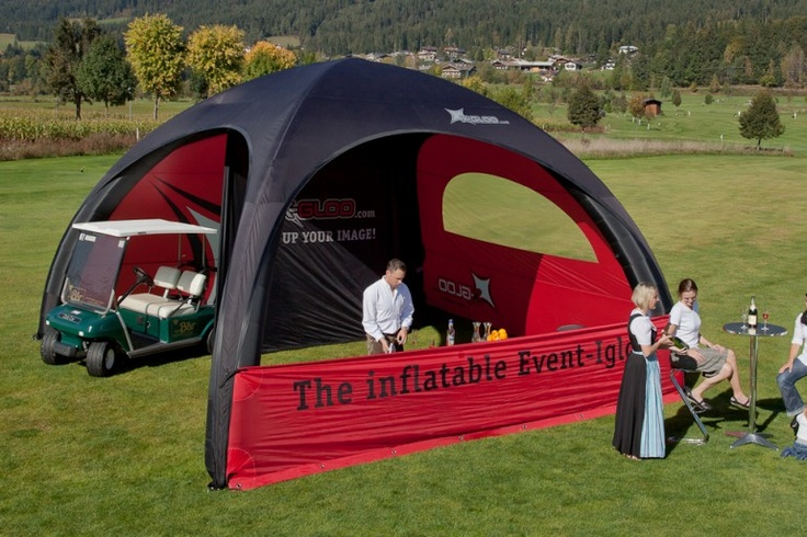 Event Catering | X-GLOO 6x6 with many Wall options shown.
