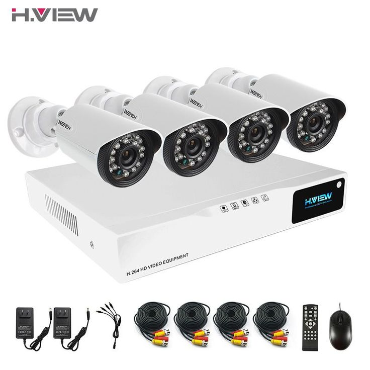 Hview 4CH HDMI AHD DVR CCTV  Security Camera System 720P IR Waterproof CCTV Camera Outdoor Home Video Surveillance Kits #jewelry, #women, #men, #hats, #watches, #belts #homesecuritysystemwatches