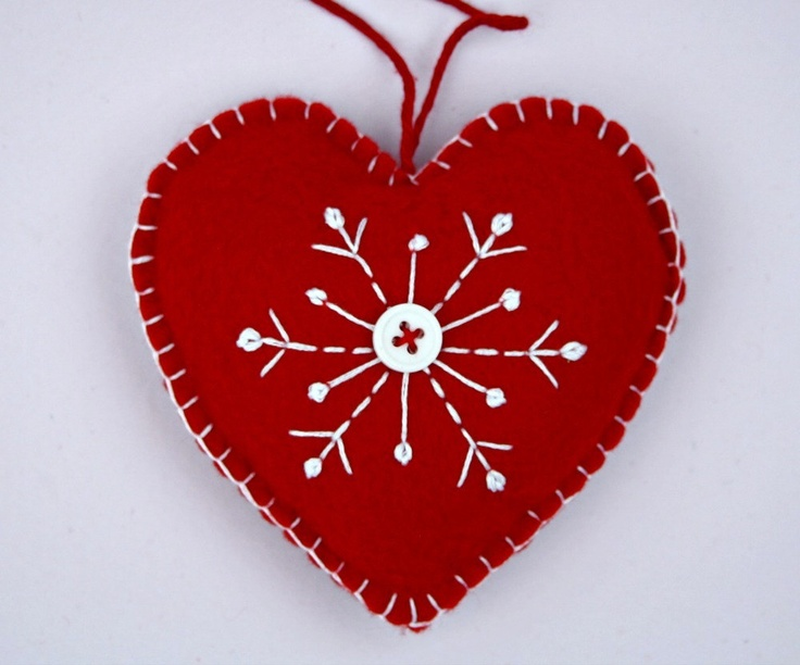 627 best Wool Applique - ornaments images on Pinterest | Christmas ...
