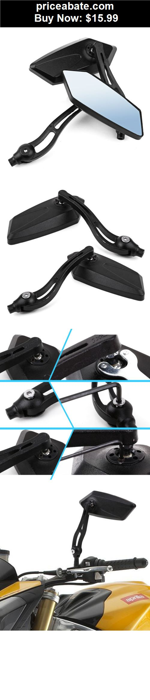 Motors parts and accessories black custom side mirrors motorcycle street sport bike