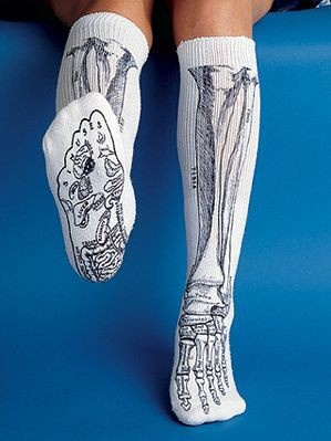 Bone socks.These would be perfect for teaching anatomy