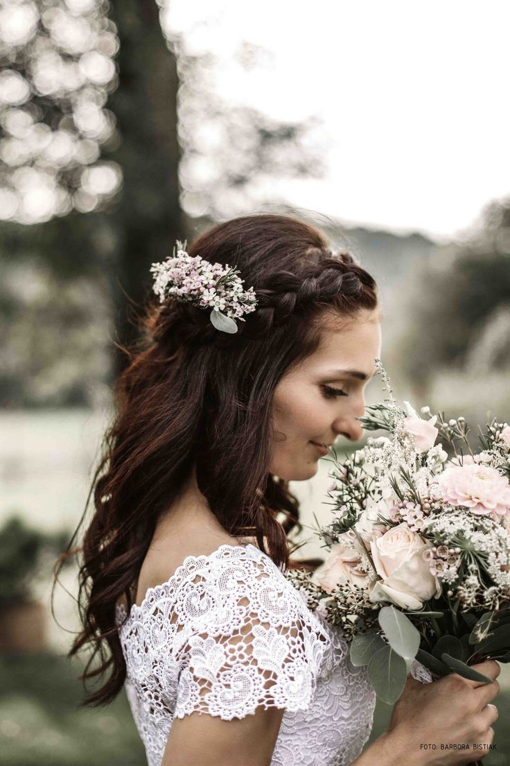 wedding hair flower accesoires blush bouquet