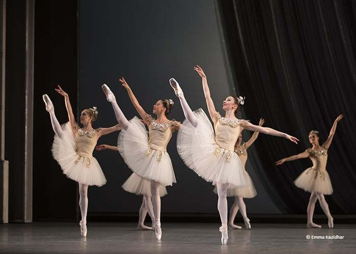 The Royal Ballet in Balanchine's Diamonds - by courtesy of the ROH.