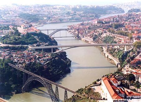 1 ponte D. Luis I - 2 Ponte do Infante-   3 ponte D. Maria Pia