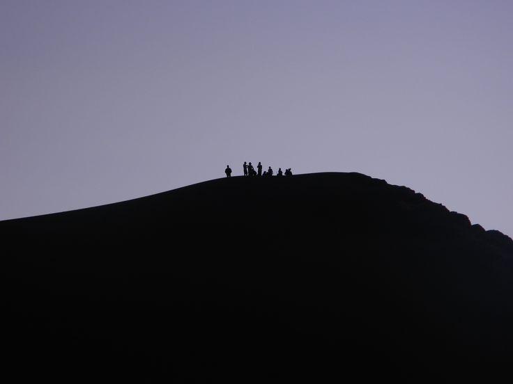 Valle de la Luna after sunset. Atacama Desert. Chile.