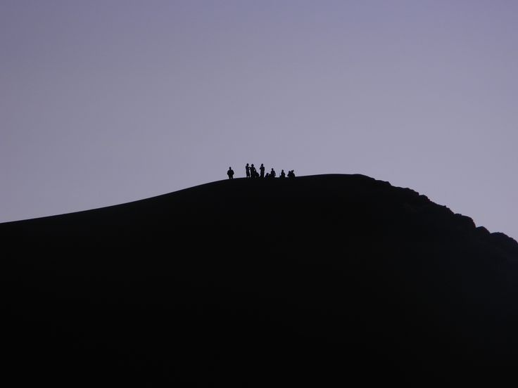 Valle de la Luna after sunset. Atacama Desert. Chile.
