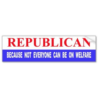 Republican bumper sticker - I want one