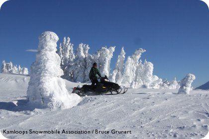 Snowmobiling in Kamloops