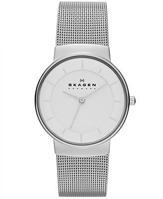 Skagen Denmark Watch, Women's Stainless Steel Mesh Bracelet 32mm SKW2075