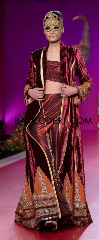 http://www.barcode91.com/designers/ritu-beri-s.html Ritu Beri's Collection inspired from the culture of punjab  at  PCJ Delhi Couture Week 2013