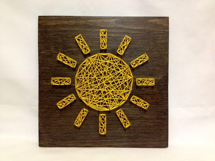 String Art Sun Sign Sunshine Wall Art Home Decor от OneRoots