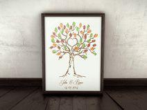 Wedding Tree, Gästebuch, Hochzeit, Fingerprints