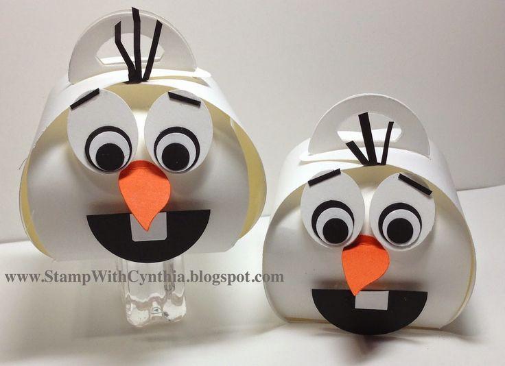 Stampin Up Curvy Keepsake die box - Olaf from Frozen. So cute