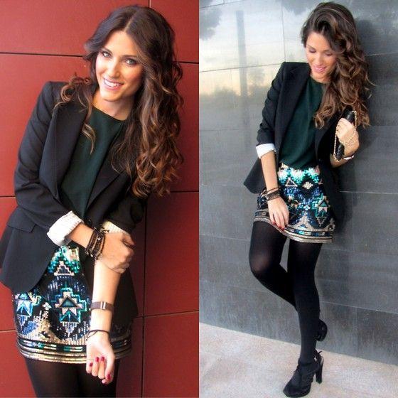 Massimo Dutti Blazer, Recoleta 3 Skirt, Amima Jewels Bracelets, Recoleta 3 Shirt, Zara Heels, Carolina Herrera Clutch