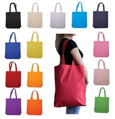 """Economical 100% Cotton Cheap Tote Bags W/Gusset  15x16x3"""" $1.53 each for 100+."""