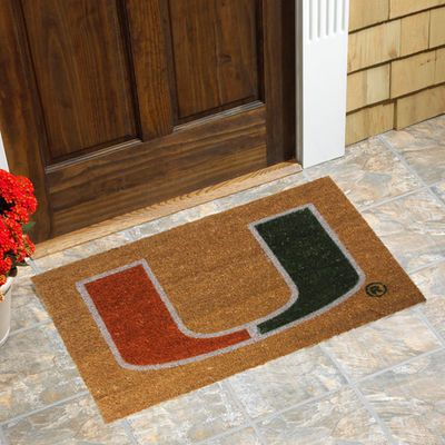 Miami Hurricanes Logo Coir Door Mat