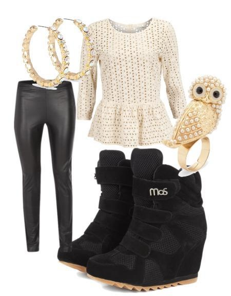 Perfect outfit with your Soho Wedge!  #mos #wedge sneaker