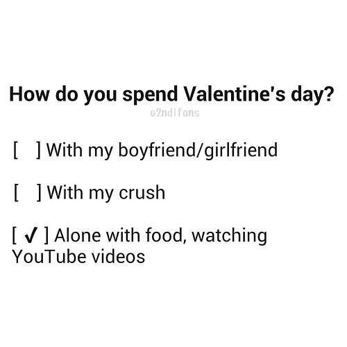 spend valentine's day alone