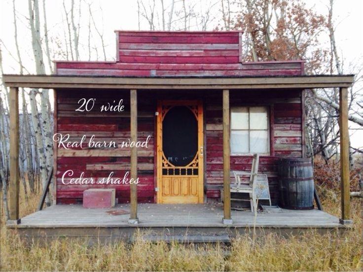 Wood working shop made western look.