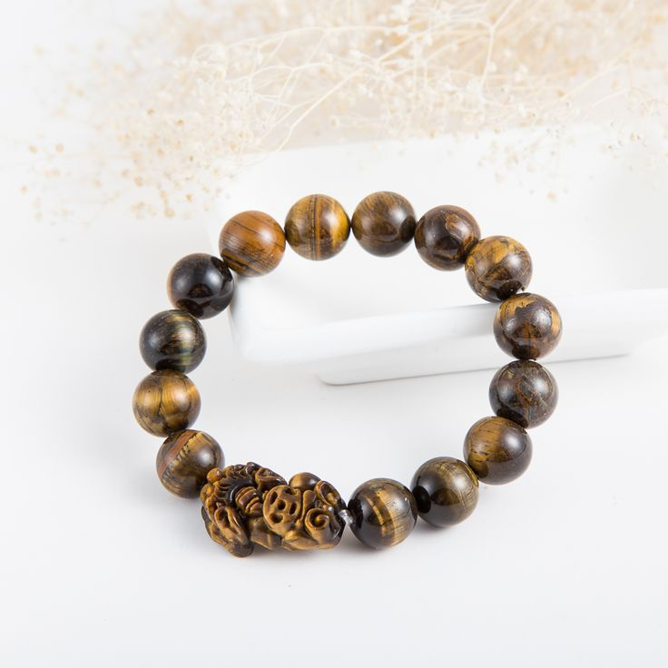10/12/14mm Natural crystal stone tigers eye quartz pixiu bracelet evil eye jewelry good luck chinese feng shui jade bracelets