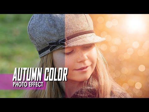 Creative Autumn Color Effects - Photoshop CC Tutorial Ver. 3 - YouTube