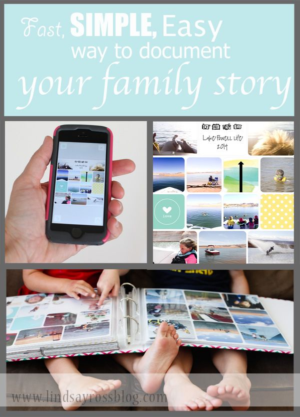A SIMPLE way to get caught up on documenting and displaying all your family photos.  No mess.  No fuss.  No stress.  Do it ANYwhere, ANYtime.  The Project Life App is a life changer for people trying to get their photos in albums.  This post shows a video of HOW to do it and sample layout pages along with instructions on the best place to print them! http://lindsayrossblog.com/2014/10/the-project-life-app-a-game-changer/