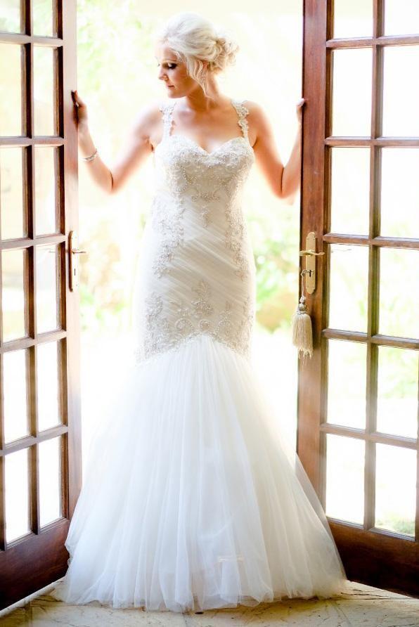 Strap Schatz bodenlangen Meerjungfrau Brautkleid mit Perlen - JoJoBride #Hochzeit #Hochzeit #Hochzeitsinspiration #Hochzeitsfrisuren #Hochzeitsblumen ...