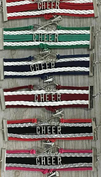 $9.99.  Cheerleading Gift -Cheer Bracelet – Cheer Gift - Cheerleading- Cheer Jewelry- Perfect Gift for Cheerleaders, Cheer Coaches & Cheer Teams.  #cheerleading #ad