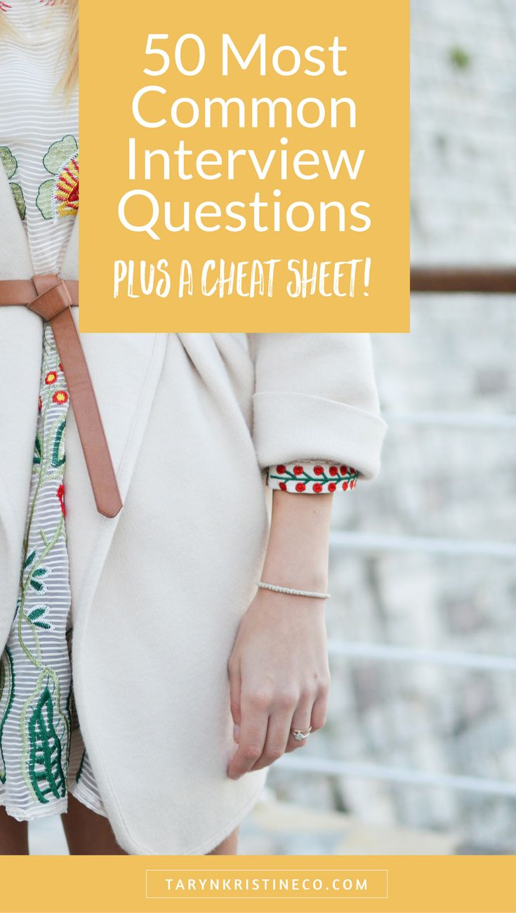 The best tool in your arsenal when it comes to slaying a job interview is feeling prepared and confident. Have one coming up? Brush up on some of the most common interview questions. Plus, snag all fifty as a convenient cheat sheet!