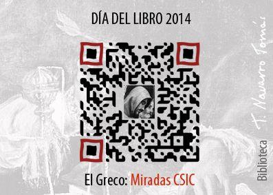 Qr web de la exposición El Greco: Miradas CSIC. Día del libro 2014