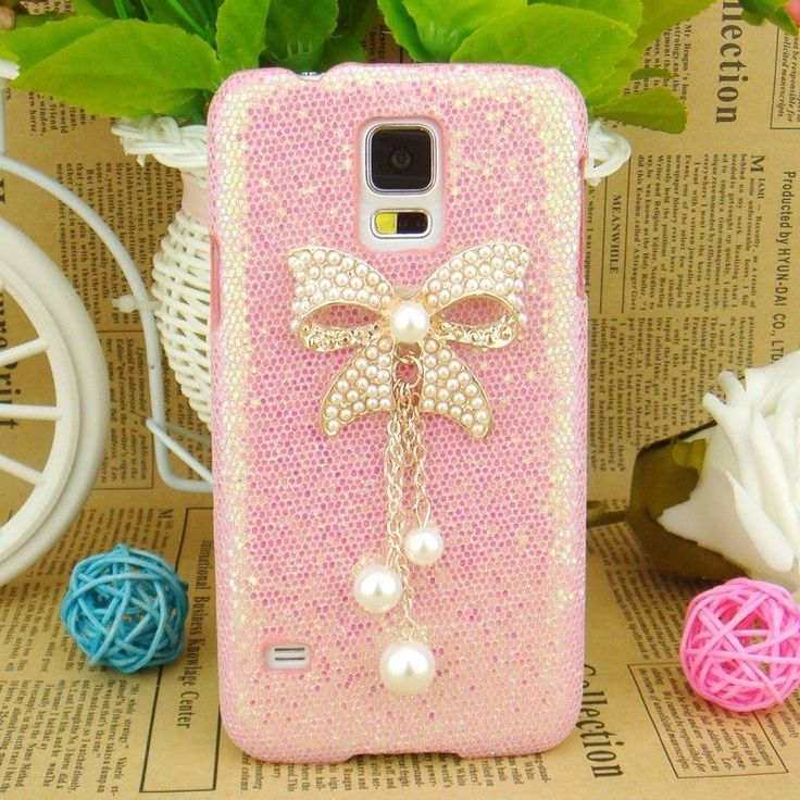 3D Glitter PU Leather Skin Pearl Diamond Bling Case Cover For Samsung Galaxy S5 in Cases, Covers & Skins | eBay