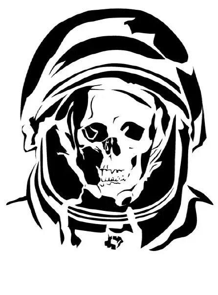 skull spaceman stencils on stencil revolution