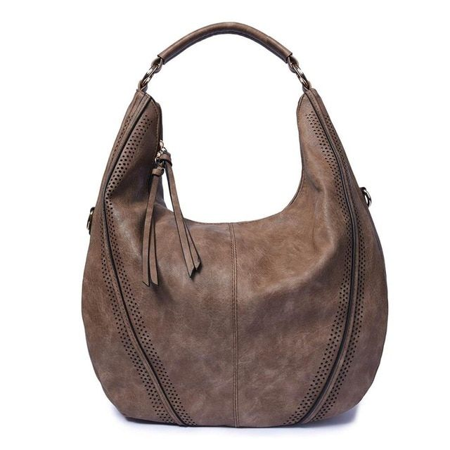 Large Saddle Bag Crossbody Bags for Women Brown Flap Purses with Tassel Over the Shoulder Long Strap