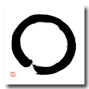 Original-Japan-Kalligraphie-ENSO-japanische-Schriftzeichen-Kanji-Zeichen-Zen
