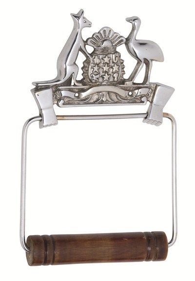 Coat of Arms Toilet Roll Holder $25.50