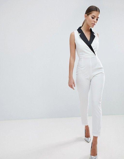 4222b620788 Vesper Contrast Tuxedo Jumpsuit