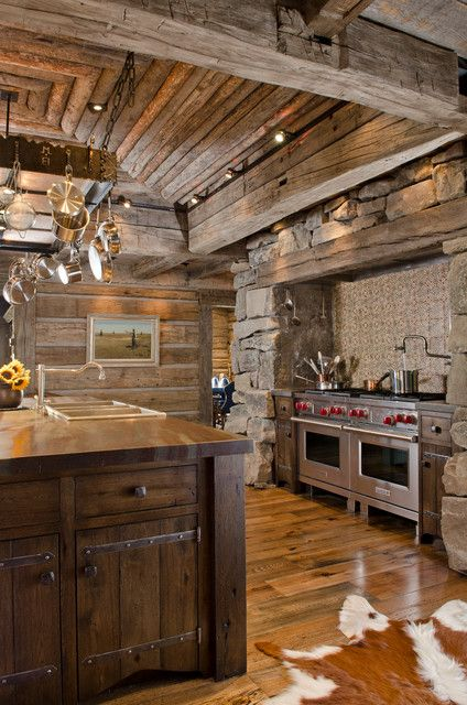 Remarkable Wooden Striped Ceiling And Wall With Mural