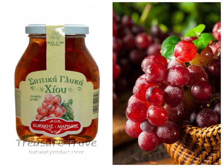 """Виноград """"Коракис-Маринос"""" в густом сахарном сиропе http://eda-eko.ru/index.php?ukey=product&productID=955 не оставит равнодушным ни одного сладкоежку! Эта прекрасная греческая сладость достойна того, чтобы ее попробовать!"""