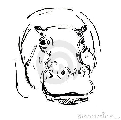 17+ best ideas about Hippo Tattoo on Pinterest | Simple ...  17+ best ideas ...