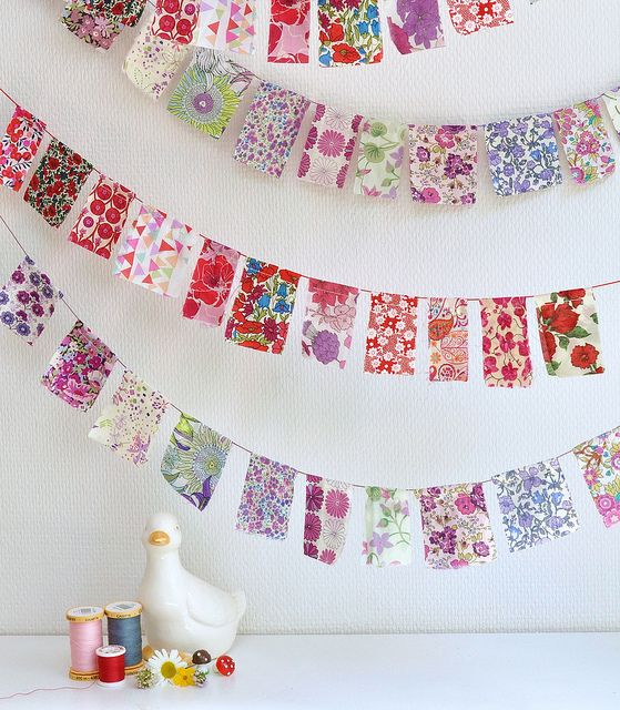 Liberty fabric garland