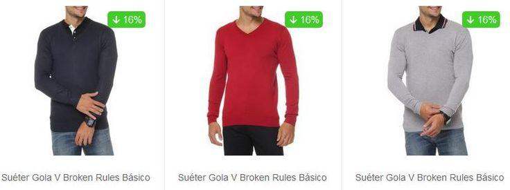 Sueter Masculino Broken Rules - Vários Modelos e Cores Diferentes << R$ 4999 >>