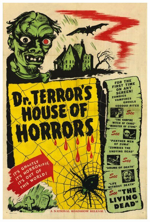 vintage movie posters | Horrific Vintage Horror Movie PostersAll Things Illustration and ...