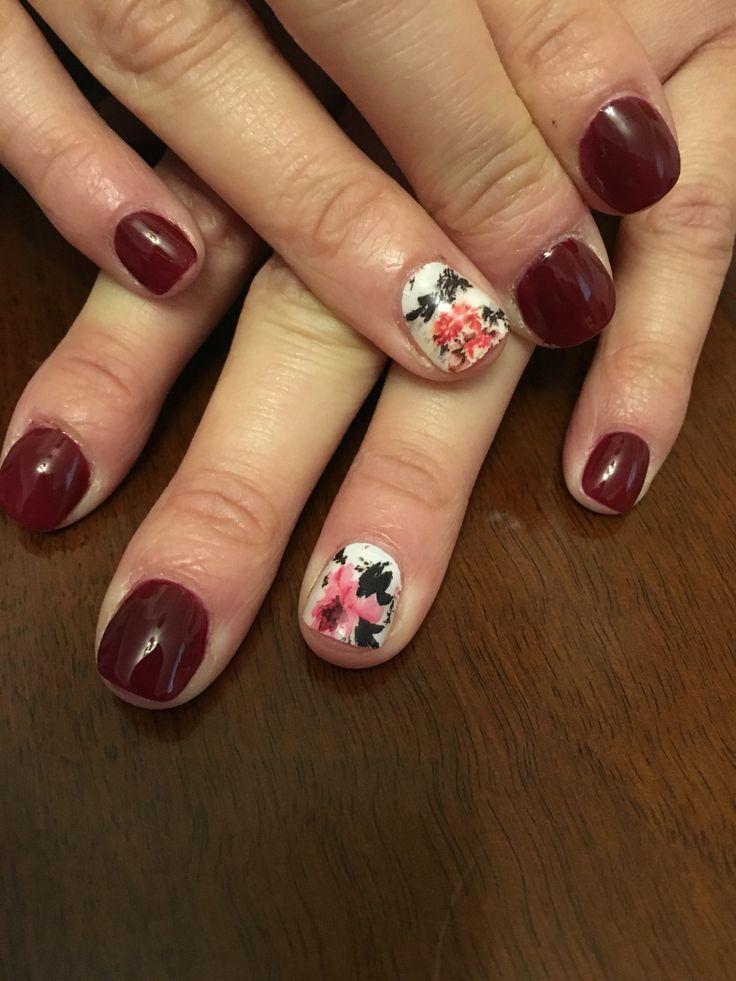 #gelpolish#gelitup#vanilla#nail#art#flowers#spring#time