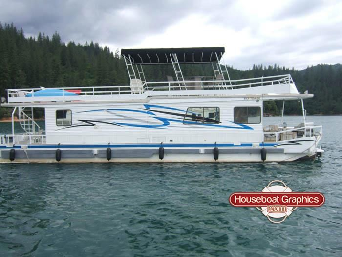 Custom Designed Houseboat Graphics Custom Vinyl Decals - Custom designed houseboat graphics
